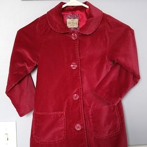 Red velvet peacoat